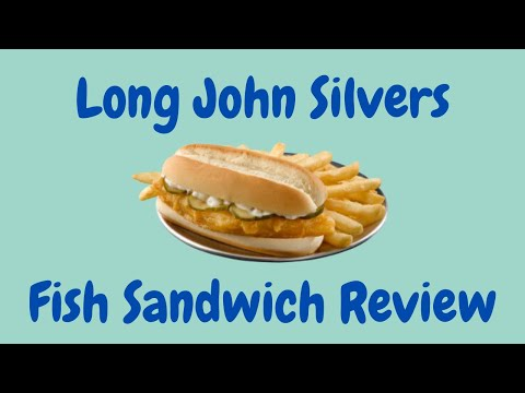 Long John Silver's Fish Sandwich Review - The Best Fast Food Fish Sandwich Series - Видео онлайн