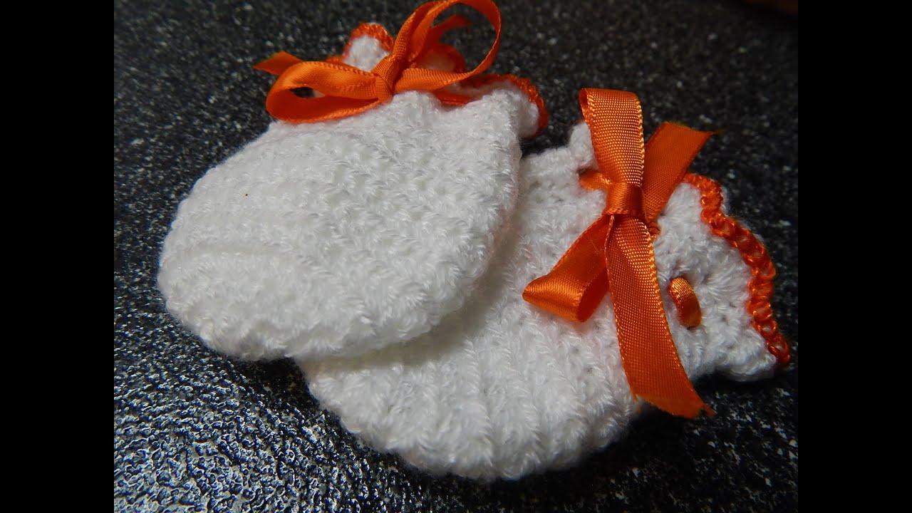 Guantes Crochet Para Bebe