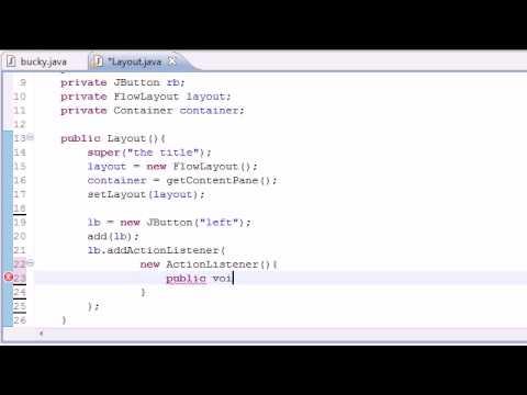 Java Programming Tutorial - 83 - FlowLayout - YouTube