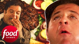 Will Adam Be The 1st Person To Beat The 6 LB Big Ugly Challenge? | Man V Food