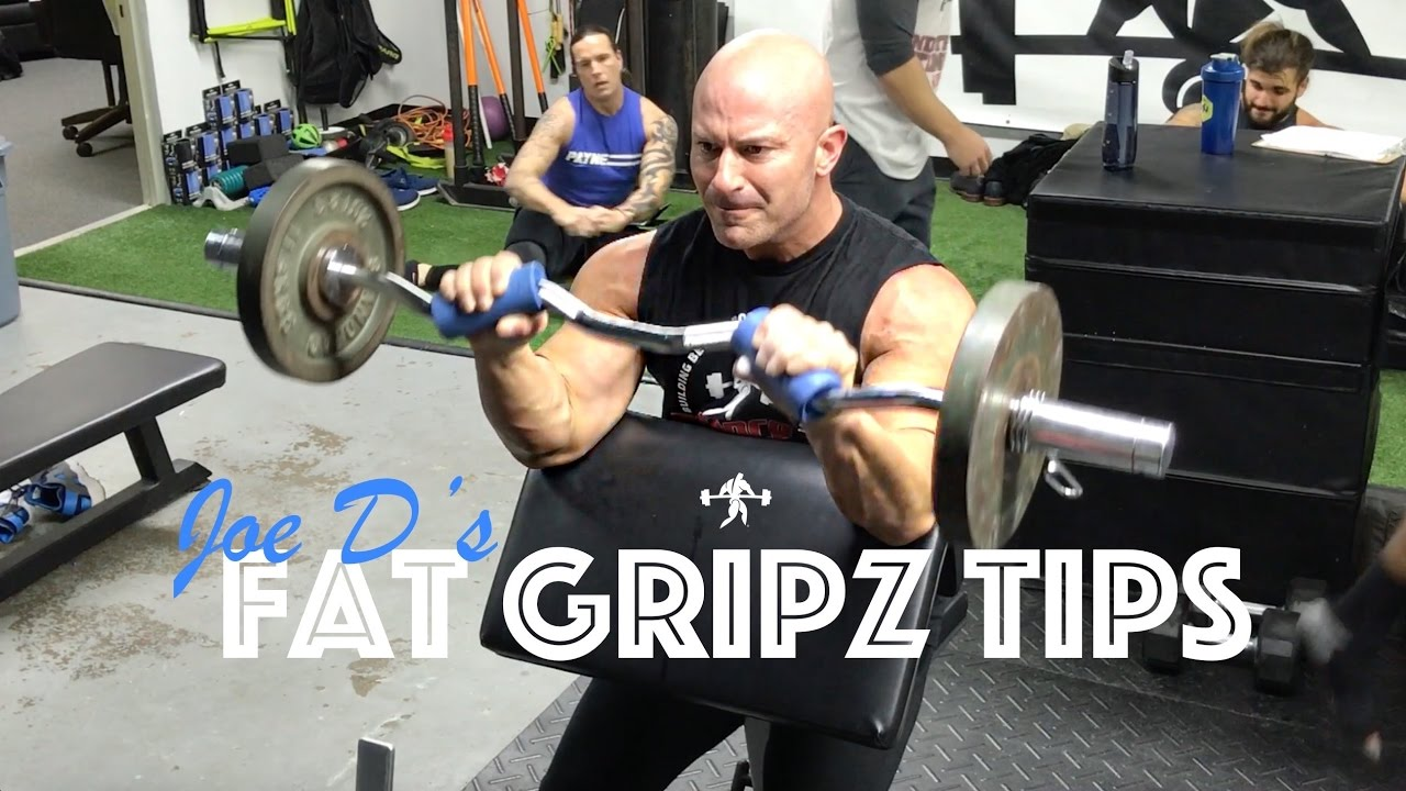 Fat Gripz Bicep Training Arm Builder Thick Bar Forearm Exerciser Hand Grips