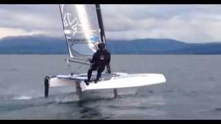 Foiling Catamaran 'Stunt 9',  May 2015