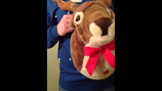Singing 3D reindeer novelty Xmas jumper Christmas light up