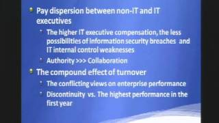 CERIAS Security: Security Management and IT Executives in a Top Management Team 5/5