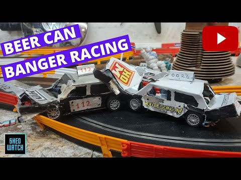 Beer Can Slot Car Banger Racing!