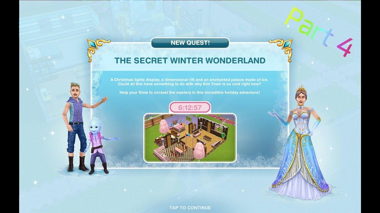 the secret winter wonderland quest day 7 8 sims. Black Bedroom Furniture Sets. Home Design Ideas