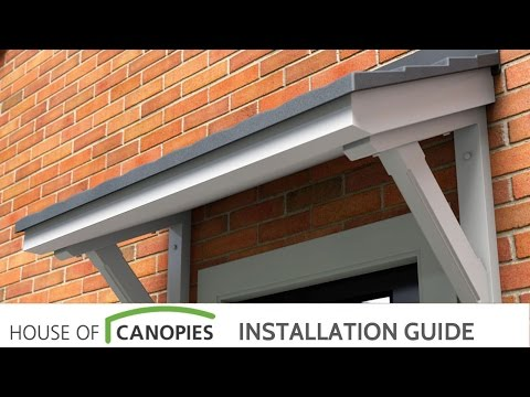 How To Fit A Mono Pitch Door Canopy