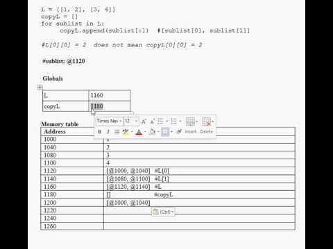 CSC180: Deep Copy of a list of lists of integers