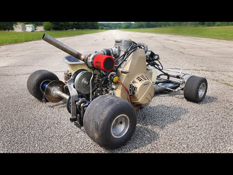 Turbo Diesel Go-Kart Big Gear Top Speed FULL SEND