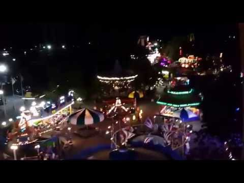 Ferris Wheel Nighttime Full on Ride POV at Adventureland in Farmingdale,NY Late 2016