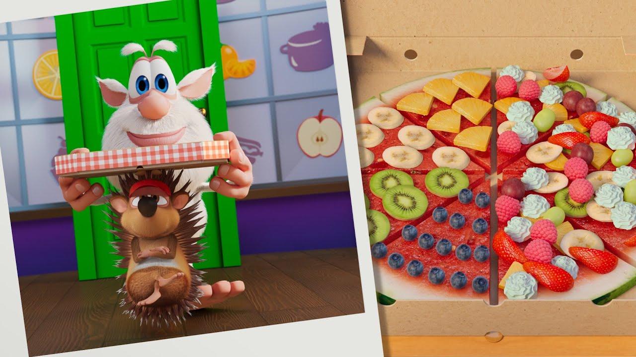 بوبا 🍉🍍 لغز الطعام: بيتزا فواكه 🍕 مسلسلات الطبخ - كارتون مضحك للأطفال