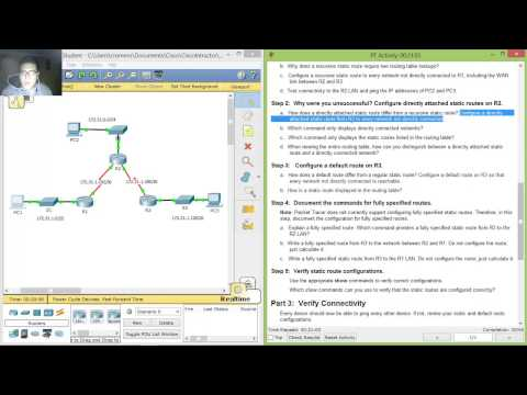 2.2.2.4 - 6.2.2.4 Packet Tracer - Configuring IPv4 Static and Default Routes