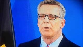 Flüchtlingskrise: Thomas de Maizière (CDU) - Grenzkontrollen werden fortgesetzt 5/2016