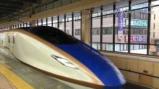 [iPhone 8 Plus 4K60p] E7系 北陸新幹線 大宮→熊谷 デッキ手持ち車窓
