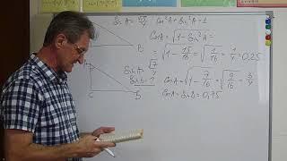 ЕГЭ, ОГЭ-2019. Задачи на тригонометрию прямоугольного треугольника В-16 ОГЭ и В-6 ЕГЭ.