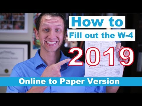 How to fill out the W - 4 2019
