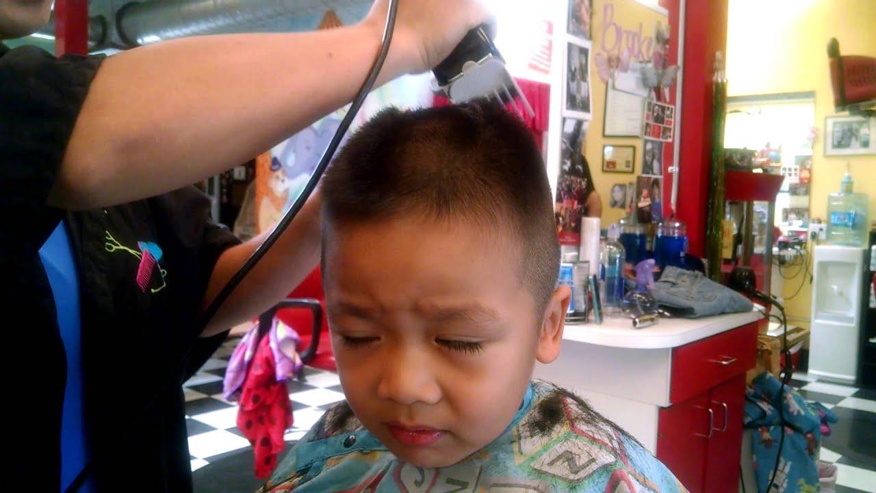 Dustin Getting Haircut Yellow Balloon Studio City 8 31 2014 Youtube
