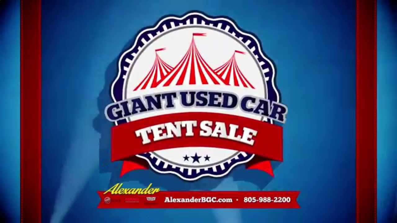 Alexander Buick Gmc Giant Used Car Tent Sale Youtube