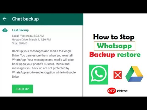 How to stop backup in Whatsapp
