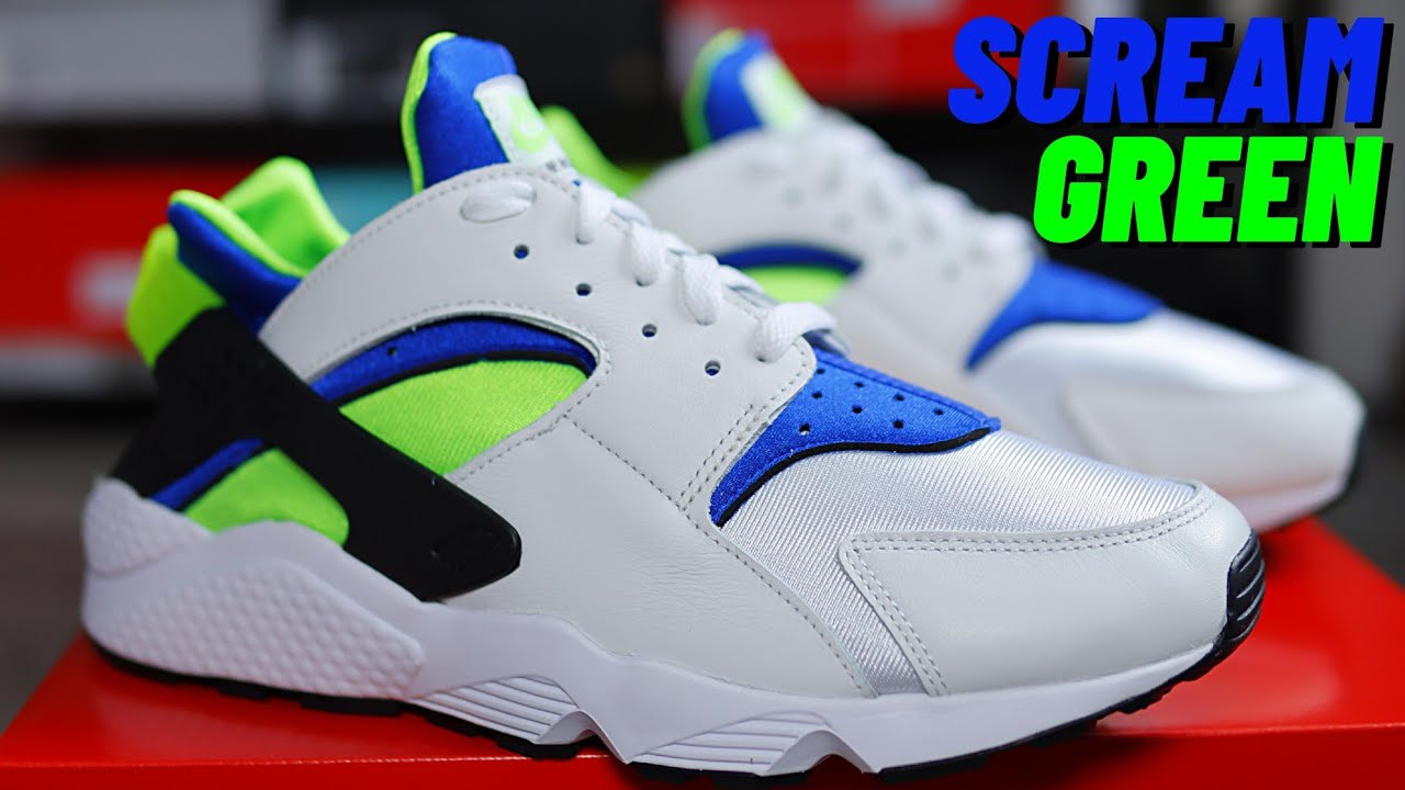 THE OG IS BACK! Nike Air HUARACHE Scream Green On Foot Review
