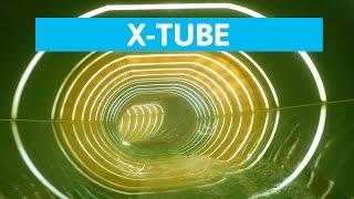 Plopsaqua De Panne - De Glijdende Banden || Very long X-Tube slide! [NEW]