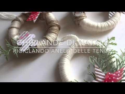 di Natale fai da te riciclando anelli delle tende. Tutorial idee ...