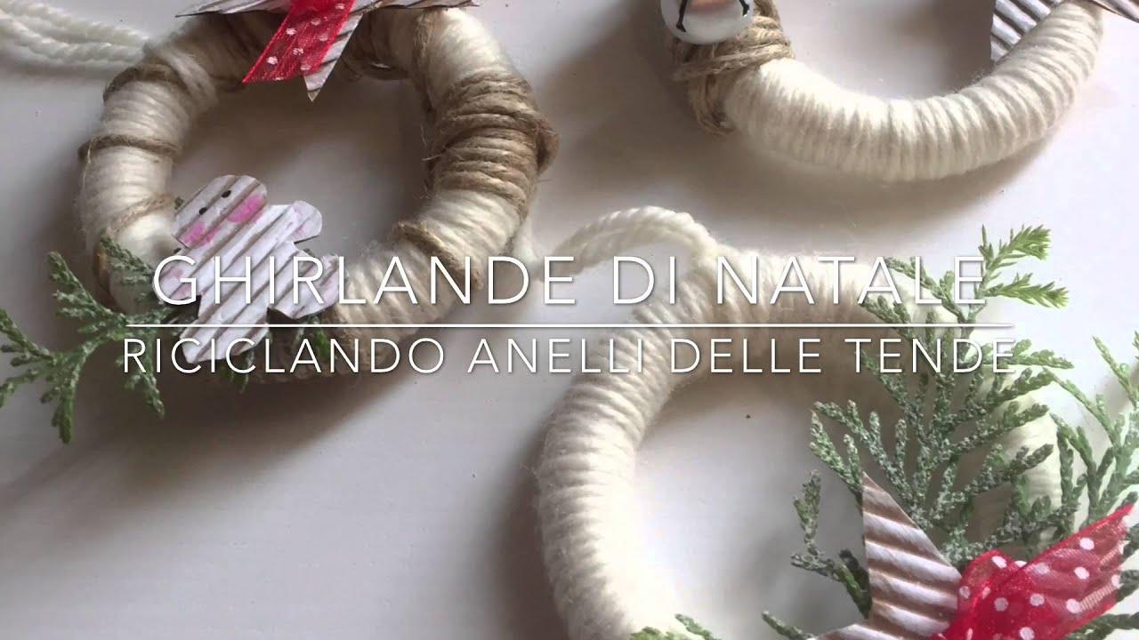 Molto Ghirlande di Natale fai da te riciclando anelli delle tende  IR16