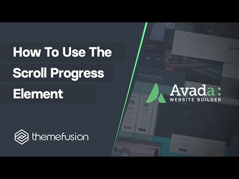 How To Use The Scroll Progress Element Video