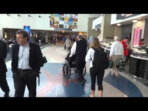 Deplaning US Airways A320 Flight 646 and walking to Baggage Claims B14 Boston Logan Boston, MA