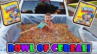 BIGGEST BOWL OF CEREAL IN A TRUCK!