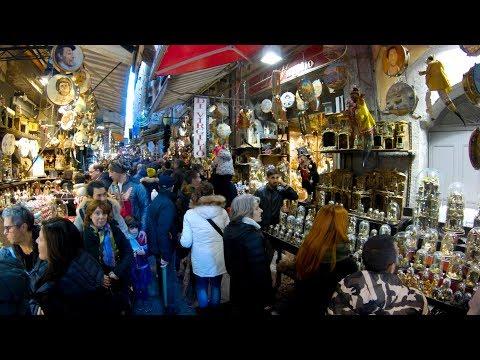 Naples, Italy Christmas Market Walking Tour 4K/60fps
