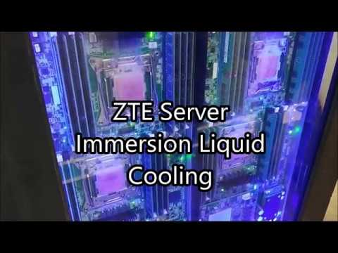 ZTE Server Immersion Liquid Cooling at MWC 2018