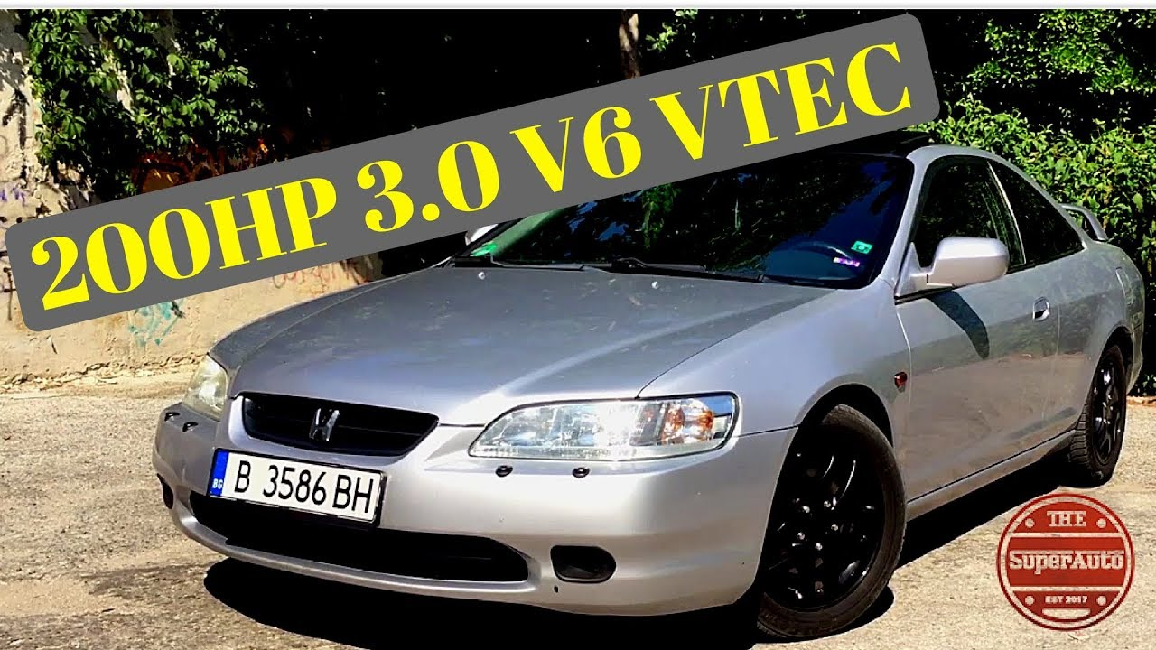 1999 Honda Accord Coupe 3.0 V6 VTEC (200hp) Review - YouTube