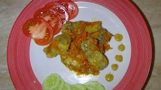 Тушёная рыба с овощами в мультиварке moulinex cook4me