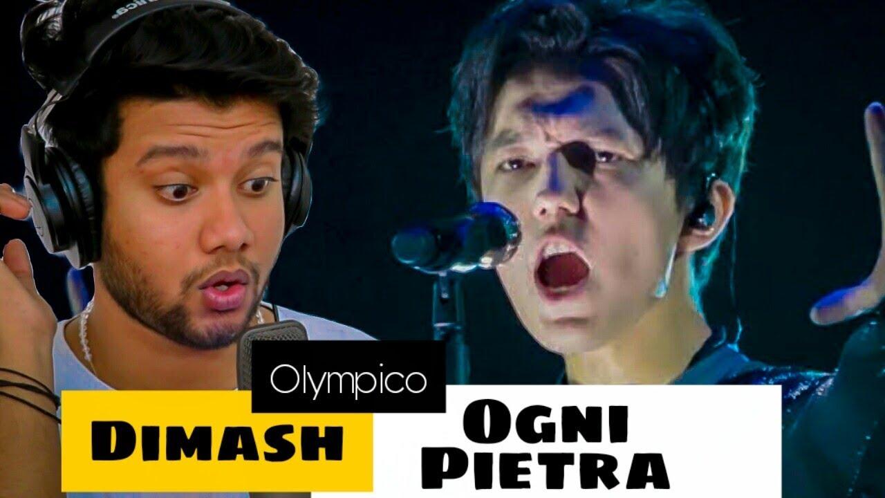 Singer Reacts to Dimash - Ogni Pietra (Fancam) | Olympico | Mind blown!!