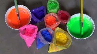 How to make liquid earth colours for rangoli designs