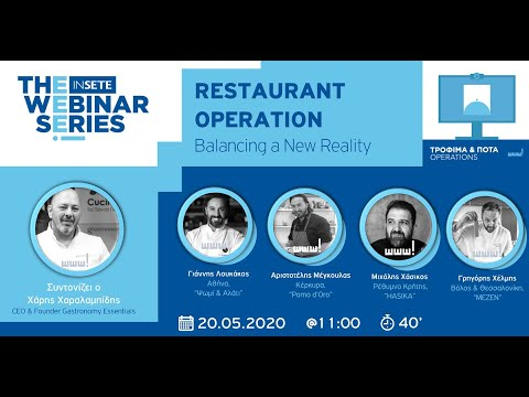 RESTAURANT OPERATION - Balancing a New Reality