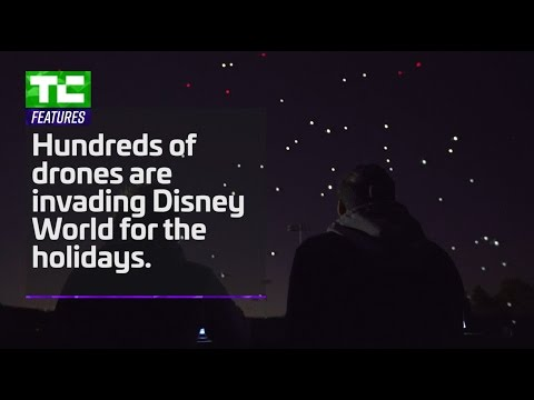 300 drones take to the skies above Disney World for the holidays