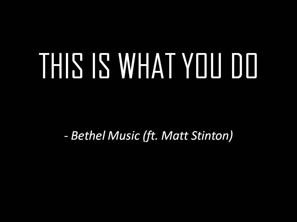 Lyric fall afresh on me lyrics : Bethel Music(ft. Matt Stinton) - This Is What You Do (Lyrics ...