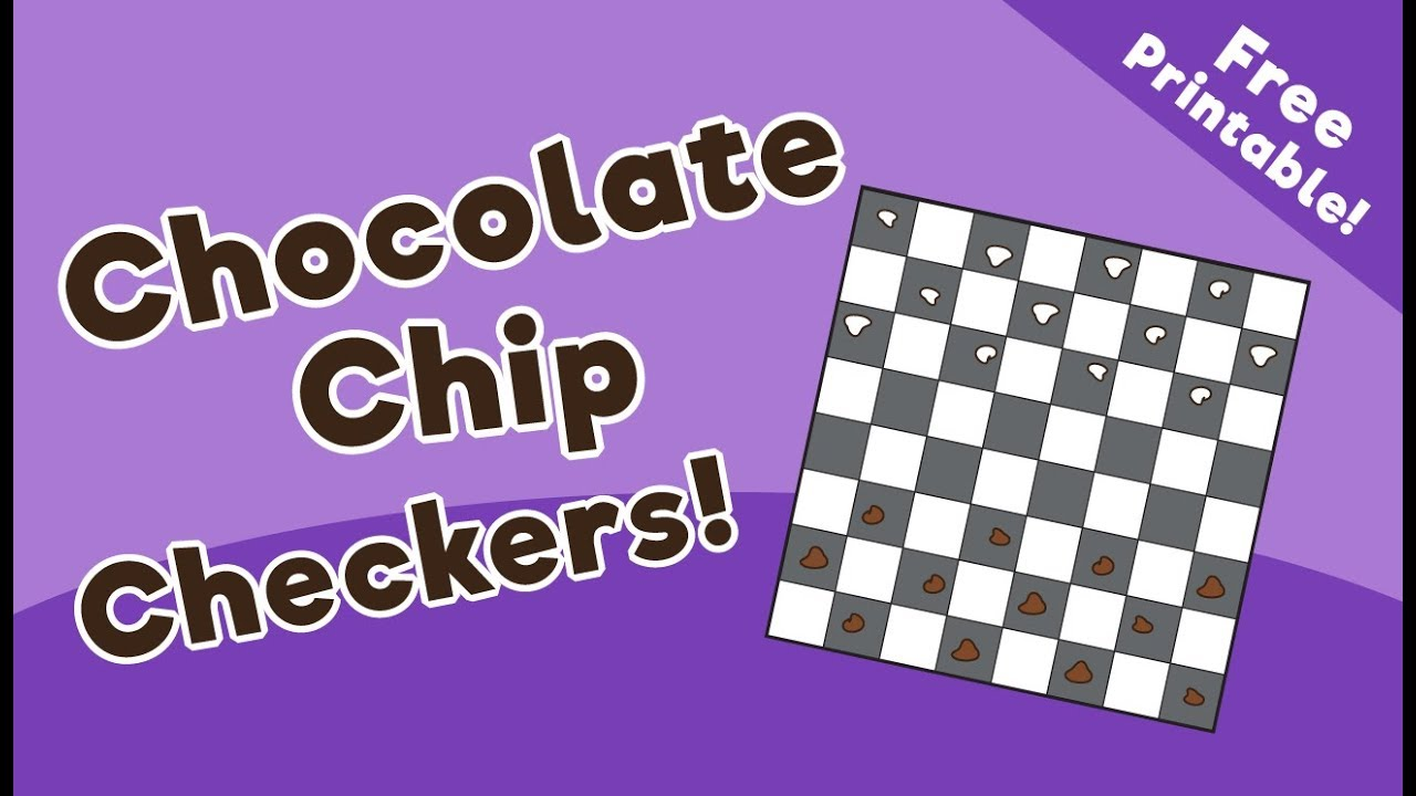 image about Printable Checkers Board named Chocolate Chip Checkers Activity - 10 Minutes of High quality Year