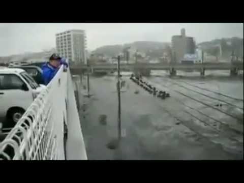 Tsunami in Shiogama, Miyagi Prefecture, Japan