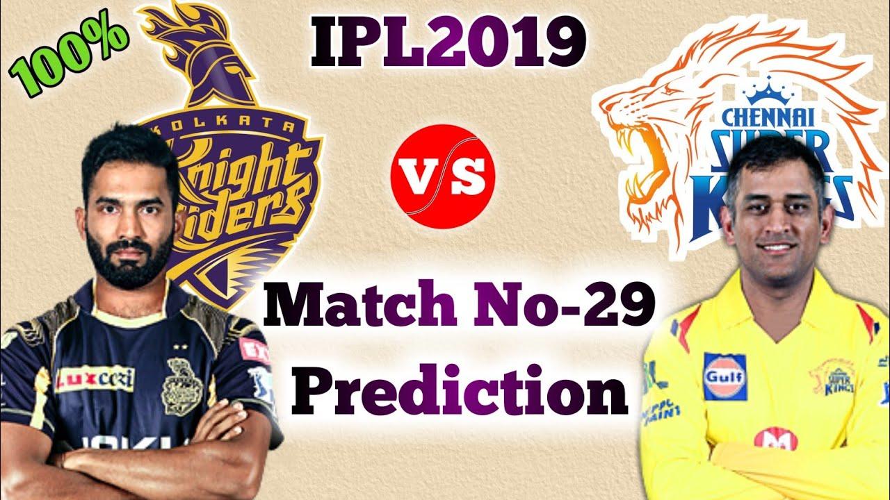 VivoIPL 2019 - KKR vs CSK 29th Match Prediction | CSK vs KKR Match Prediction | 14 Apr. Match