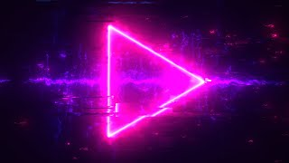 Cyberpunk Hi-Tech Glitch Neon Arrow Looped Background Animation | Free Footage