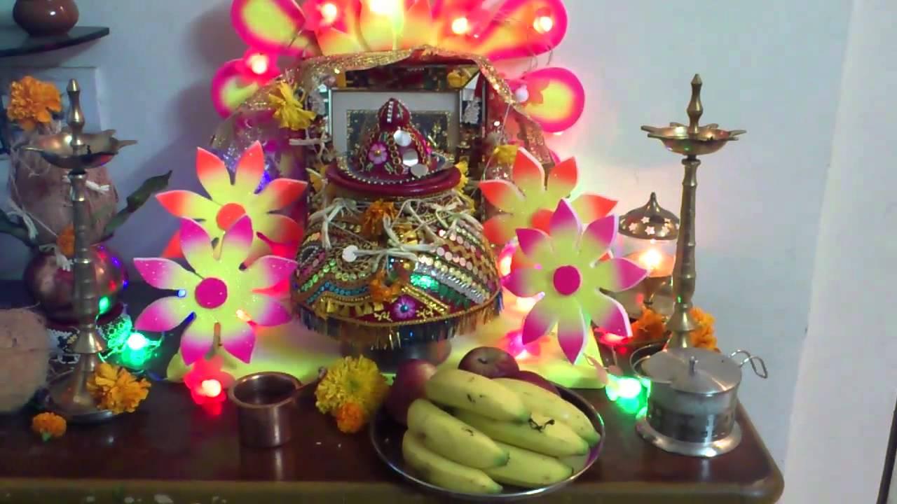 Garba Or Navratri Garbo At Home Decoration At Maa Ambe Garbo In Mumbai Youtube