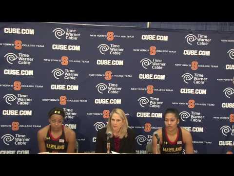 SU Maryland   Maryland Post Game Presser   Head Coach Brenda Frese & Players Lexie Brown & Alyssa Th