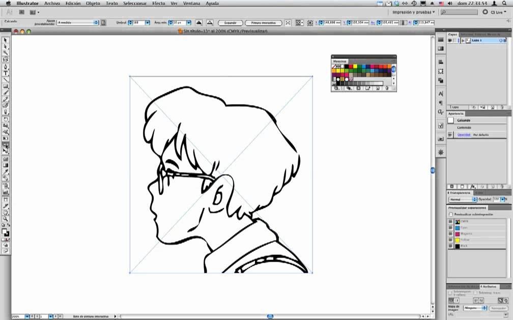 Illustrator CS5   Pintura interactiva   Colorear comics   YouTube