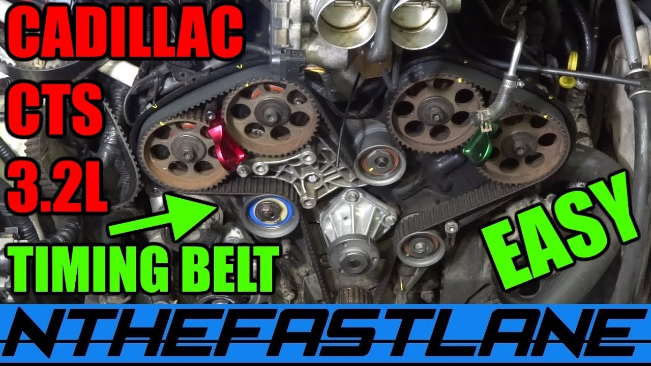 how to replace cts timing belt youtube cadillac cts timing belt on cadillac deville transmission diagram [ 1280 x 720 Pixel ]
