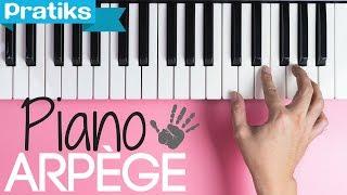 Piano - Comment positionner les doigts pour faire un arpège ?