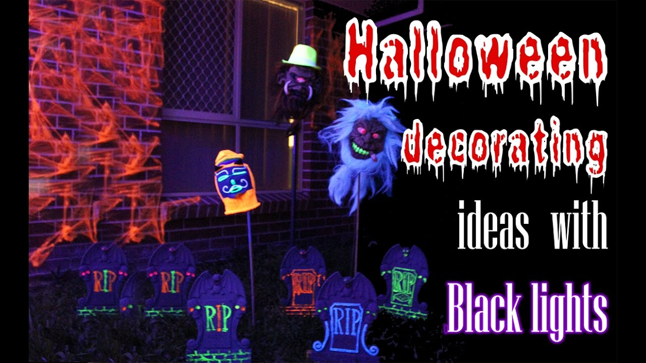 Decorations With Black Lights