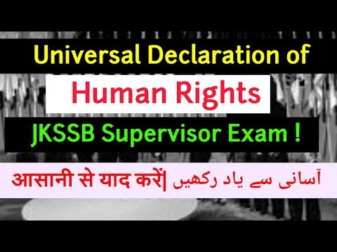 Universal Declaration  of Human Rights for Supervisor Exam | All Human Rights Explained !
